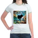 Worship & Praise Your Dog Jr. Ringer T-Shirt