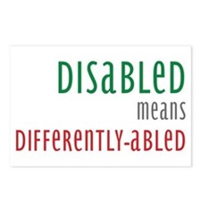 Disabled = Differently-abled Postcards (Package of