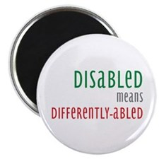 "Disabled = Differently-abled 2.25"" Magnet (10 pack"