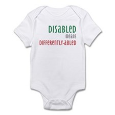 Disabled = Differently-abled Infant Bodysuit