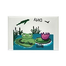 Frog Rectangle Dishwasher Magnet (100 pack)