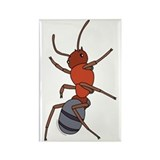 Big Red Ant Rectangle Magnet (100 pack)