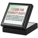 Disability Rights Keepsake Box