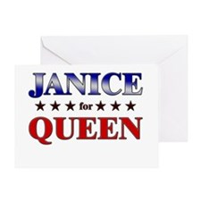 JANICE for queen Greeting Card