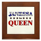 JANESSA for queen Framed Tile