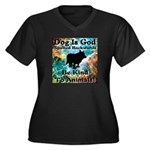 Be Kind To Animals! Women's Plus Size V-Neck Dark
