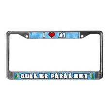 Crtn I Love my Quaker Parakeet License Plate Frame
