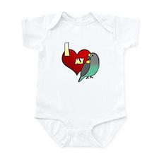 I Love my Meyer's Parrot Baby Bodysuit (Cartoon)