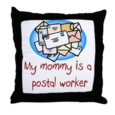 Postal Worker Throw Pillow