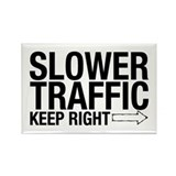 Slower Traffic Rectangle Magnet (10 pack)