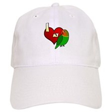 I Love my Fischer's Lovebird Hat (Cartoon)