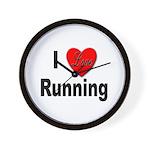 I Love Running Wall Clock