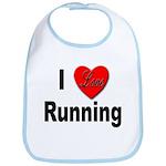 I Love Running Bib