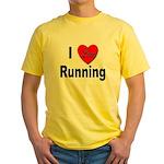I Love Running Yellow T-Shirt