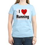 I Love Running Women's Pink T-Shirt