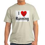 I Love Running (Front) Ash Grey T-Shirt