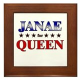 JANAE for queen Framed Tile