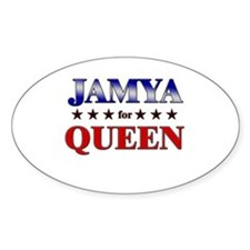 JAMYA for queen Oval Decal