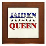 JAIDEN for queen Framed Tile