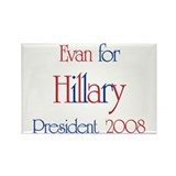 Evan for Hillary 2008 Rectangle Magnet (10 pack)