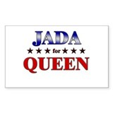 JADA for queen Rectangle Bumper Stickers