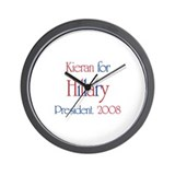 Kieran for Hillary 2008 Wall Clock