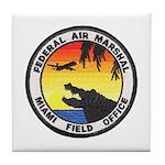 Miami Sky Marshal Tile Coaster