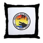 Miami Sky Marshal Throw Pillow