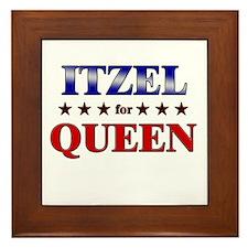 ITZEL for queen Framed Tile
