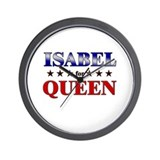 ISABEL for queen Wall Clock