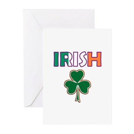 Irish Shamrock Greeting Cards (Pk of 10)