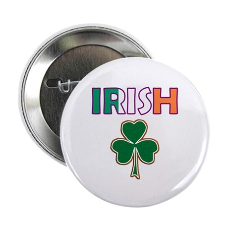 "Irish Shamrock 2.25"" Button"