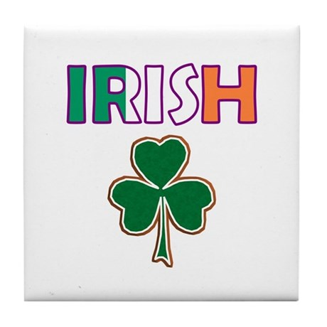 Irish Shamrock Tile Coaster