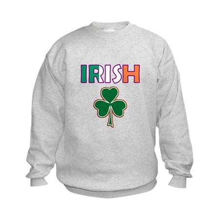 Irish Shamrock Kids Sweatshirt