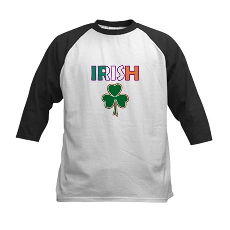Irish Shamrock Kids Baseball Jersey