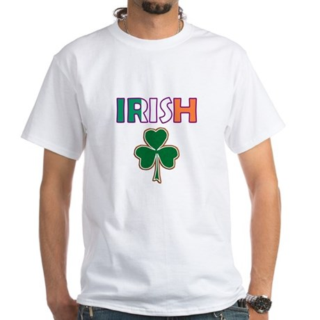 Irish Shamrock White T-Shirt