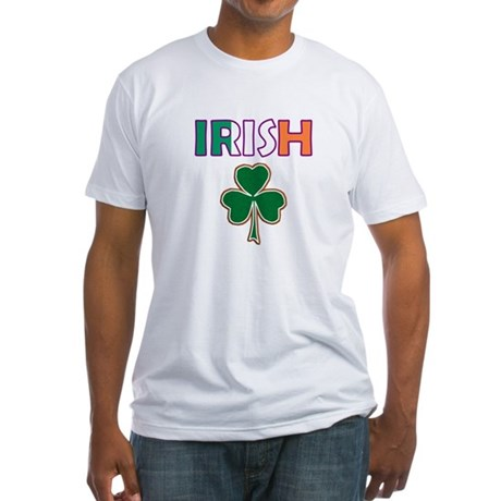 Irish Shamrock Fitted T-Shirt
