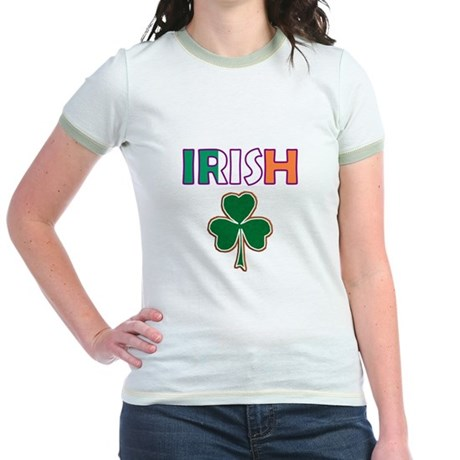 Irish Shamrock Jr. Ringer T-Shirt