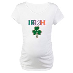 Irish Shamrock Maternity T-Shirt