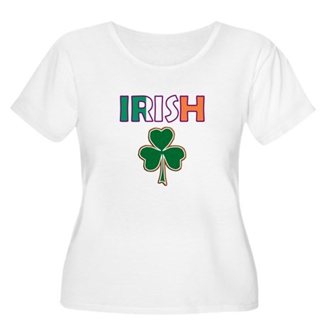Irish Shamrock Women's Plus Size Scoop Neck T-Shir
