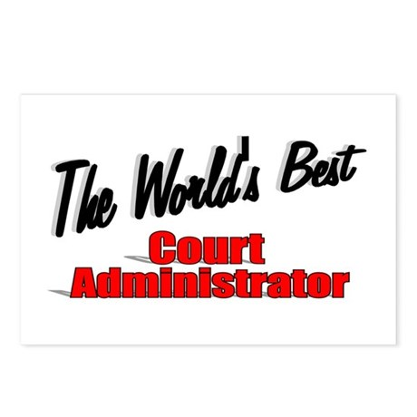 &quot;The World's Best Court Administrator&quot; Postcards (