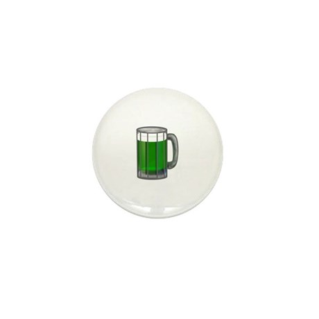 Mug of Green Beer Mini Button (10 pack)