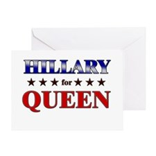 HILLARY for queen Greeting Card