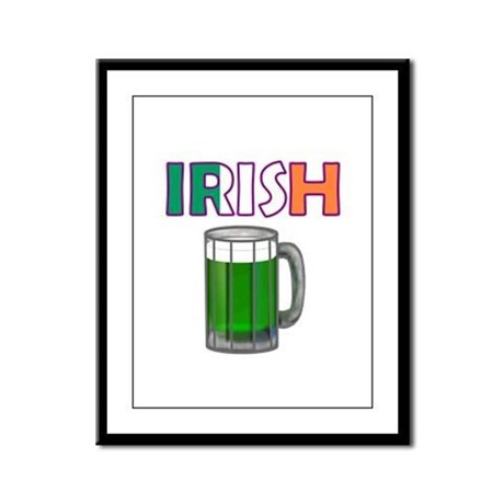 Irish Green Beer Framed Panel Print