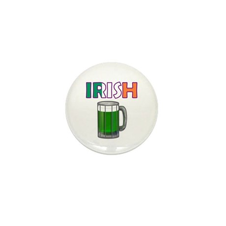 Irish Green Beer Mini Button
