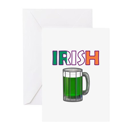 Irish Green Beer Greeting Cards (Pk of 10)
