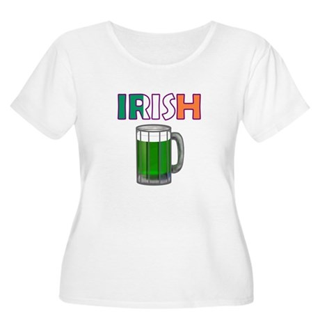Irish Green Beer Women's Plus Size Scoop Neck T-Sh