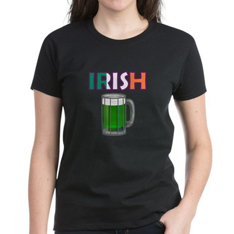 Irish Green Beer Women's Dark T-Shirt