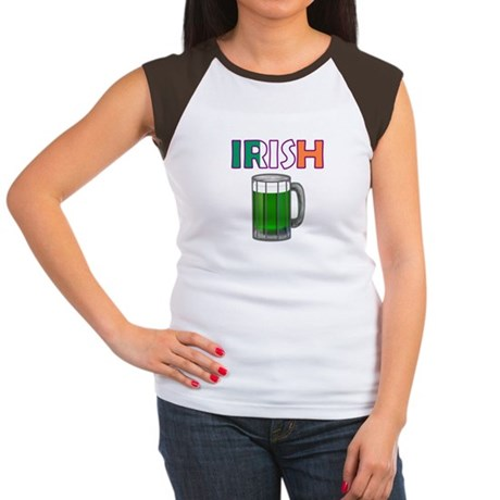 Irish Green Beer Women's Cap Sleeve T-Shirt