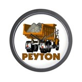 Peyton Consturction Dump Truc Wall Clock